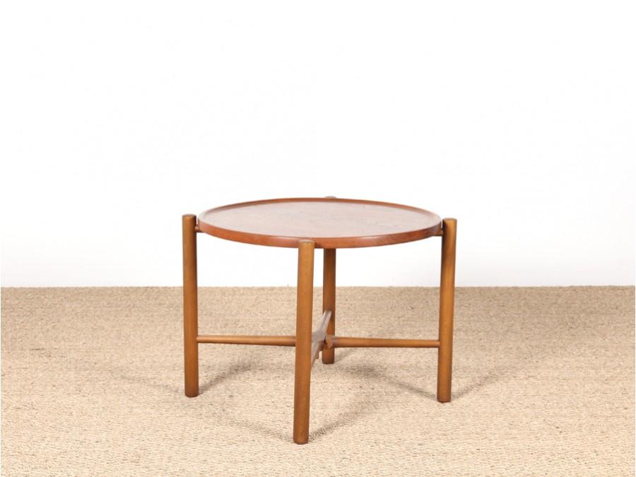 Table basse ronde pliante