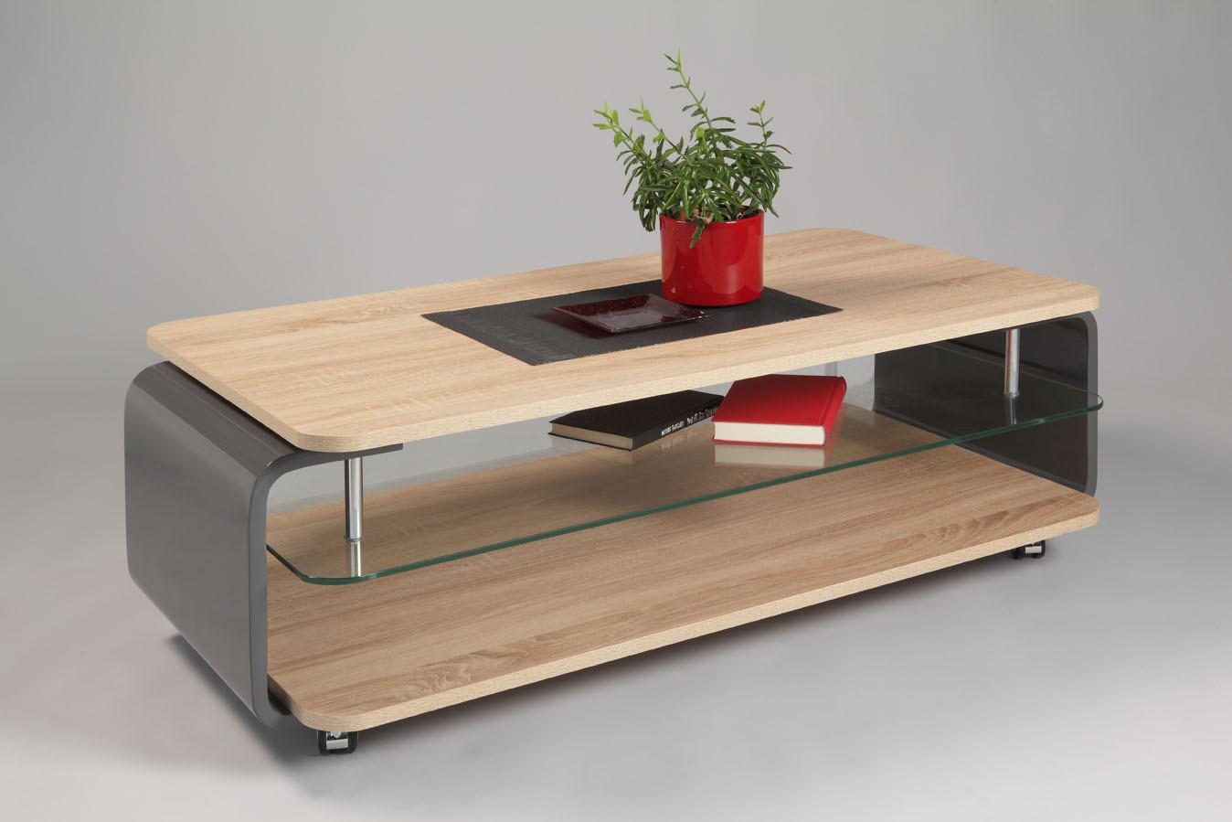 Table basse bois gris pas cher