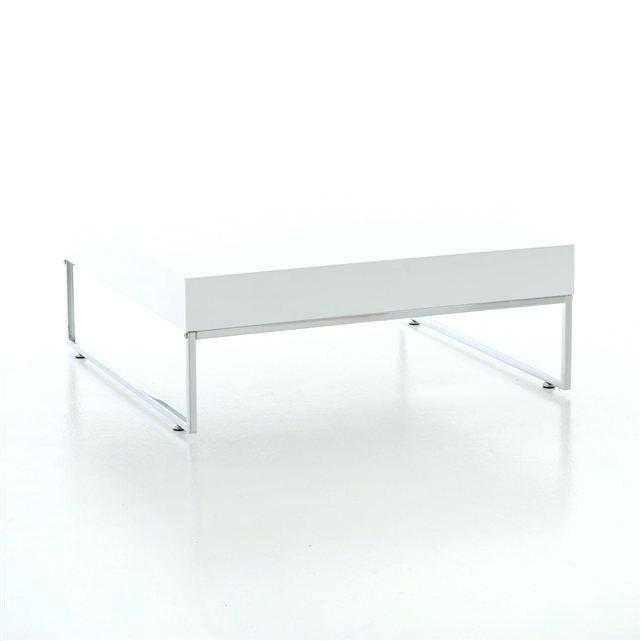 Table basse ronde laquée blanche extensible ruben