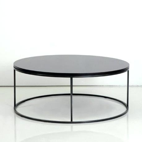 Table basse ronde metallique