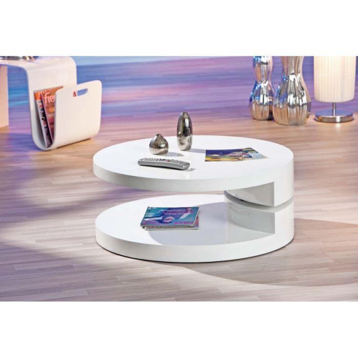 Table basse ronde moderne