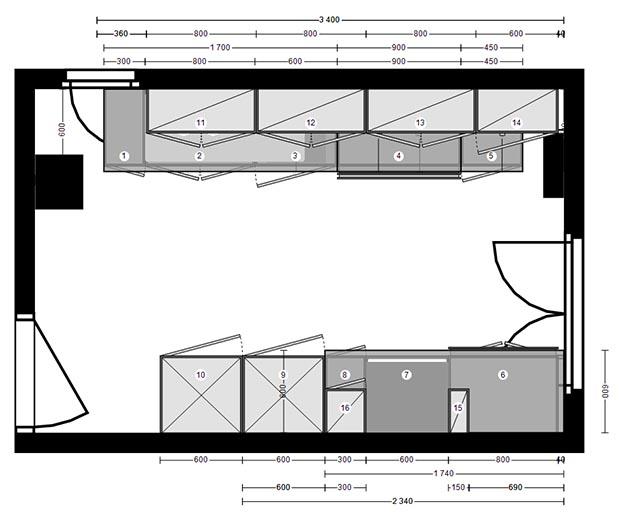 Plan d'implantation d'une cuisine de restaurant
