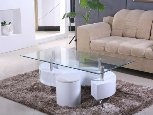 Table basse en verre en s
