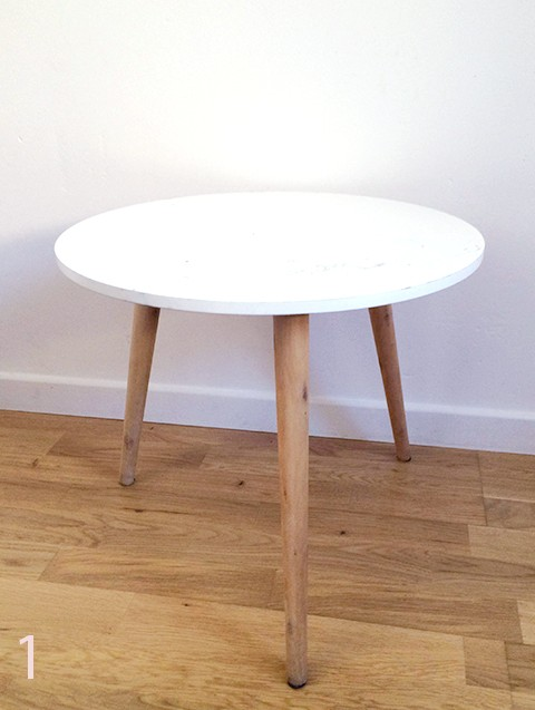 Table basse gifi blanche