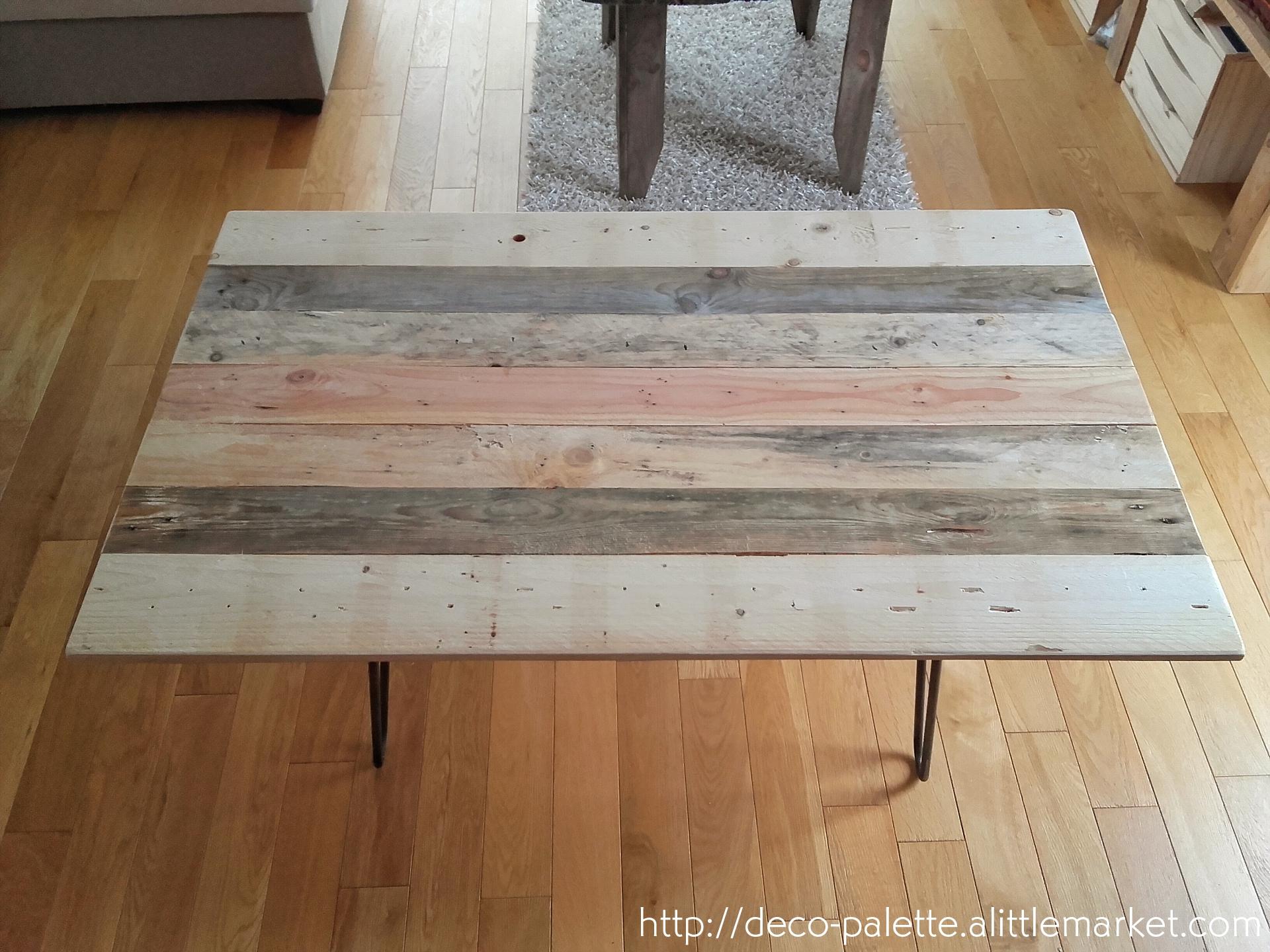 table basse palette scandinave. Black Bedroom Furniture Sets. Home Design Ideas