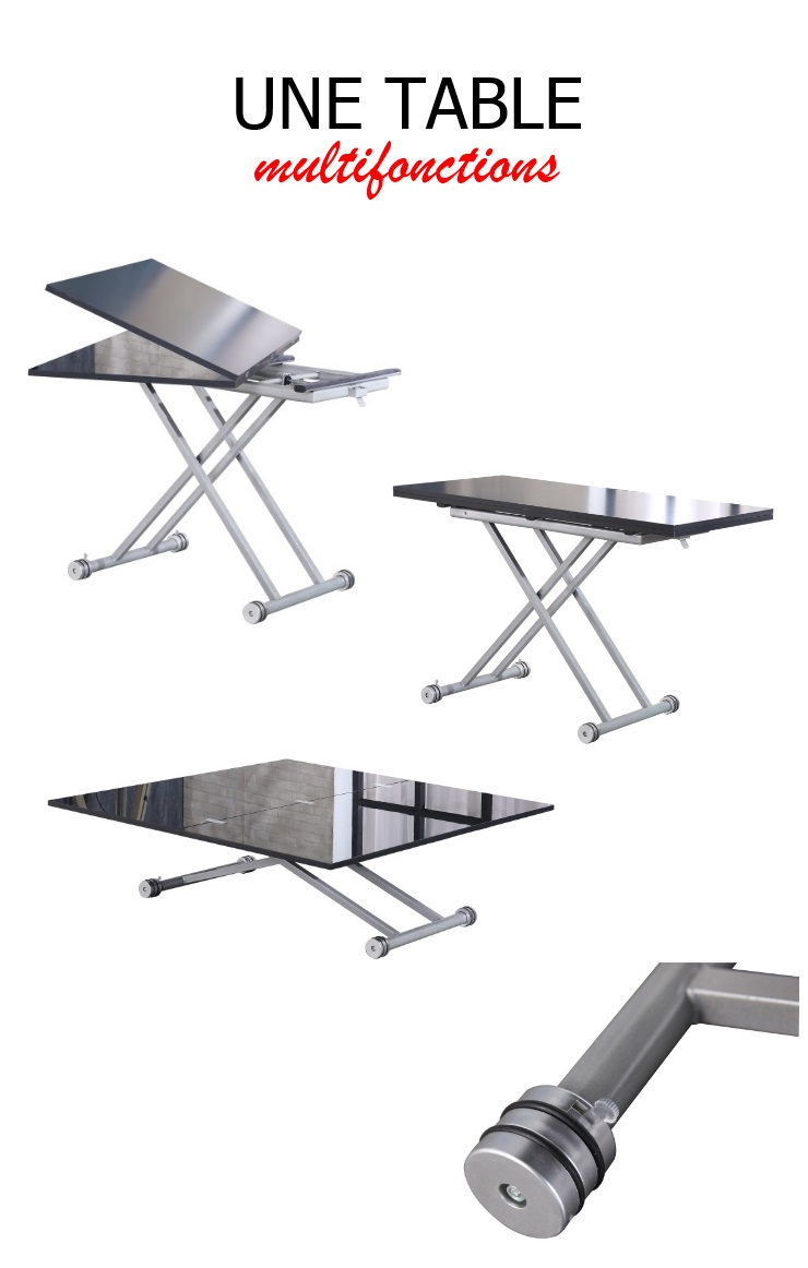 Upper table basse relevable et extensible - Table basse relevable extensible conforama ...