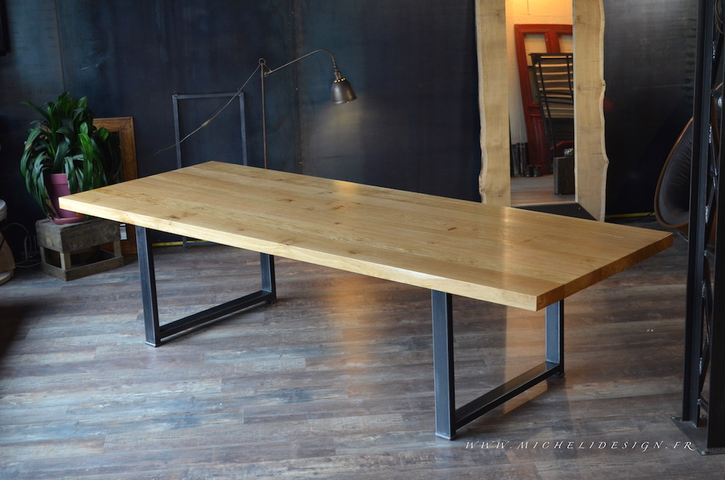 Table haute de cuisine sur mesure