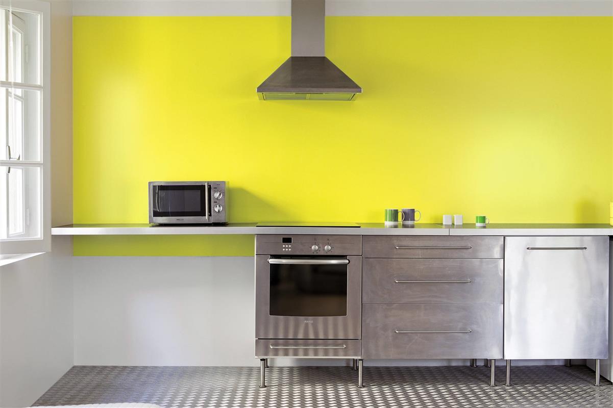 Peinture mur pour cuisine grise