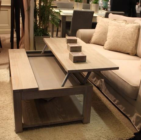 Table basse relevable bois massif