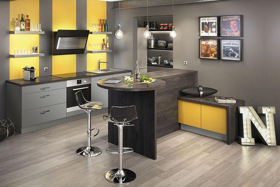 Deco cuisine jaune et noir