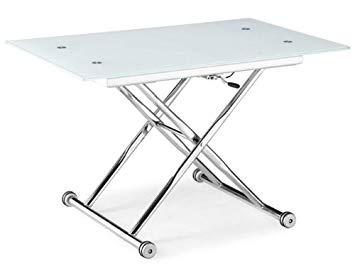 Table basse en verre transformable