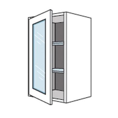 Meuble haut de cuisine porte vitrée