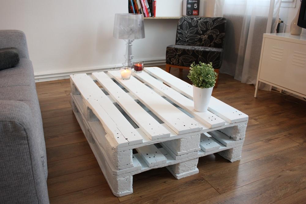 Table basse une palette