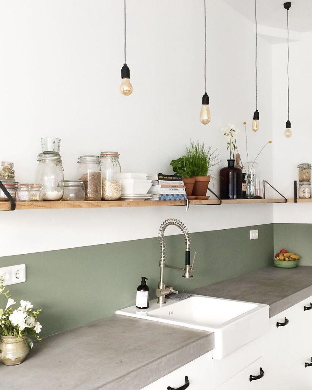 Decoration cuisine vert olive