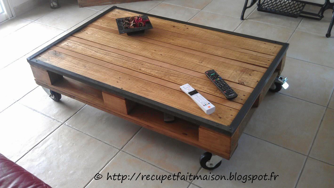 Idée table basse palette