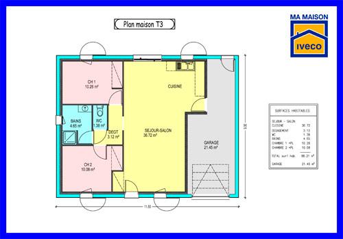 Plan maison cuisine ouverte - tendancesdesign.fr
