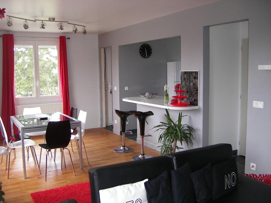 idee deco peinture cuisine ouverte. Black Bedroom Furniture Sets. Home Design Ideas