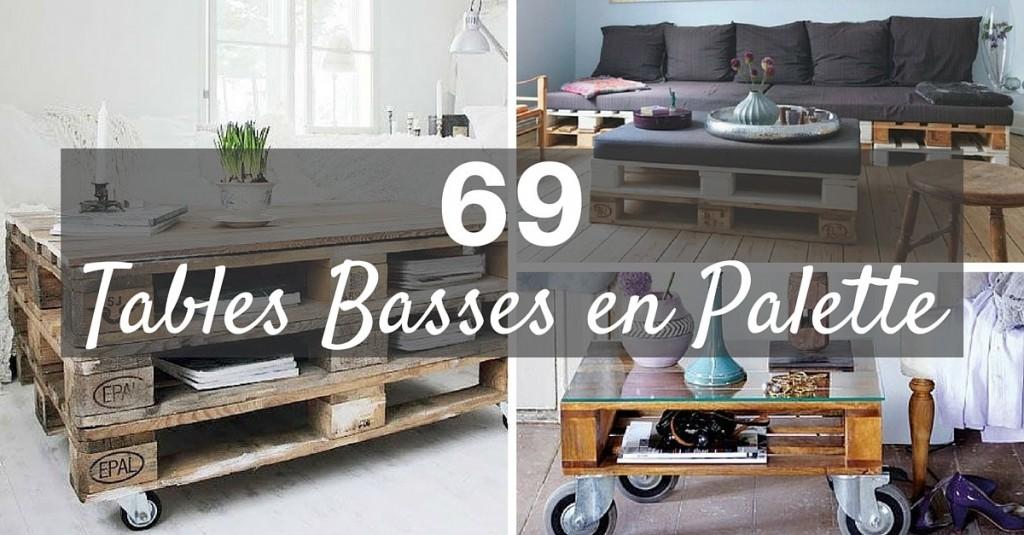 fabriquer table basse avec palette roulettes. Black Bedroom Furniture Sets. Home Design Ideas