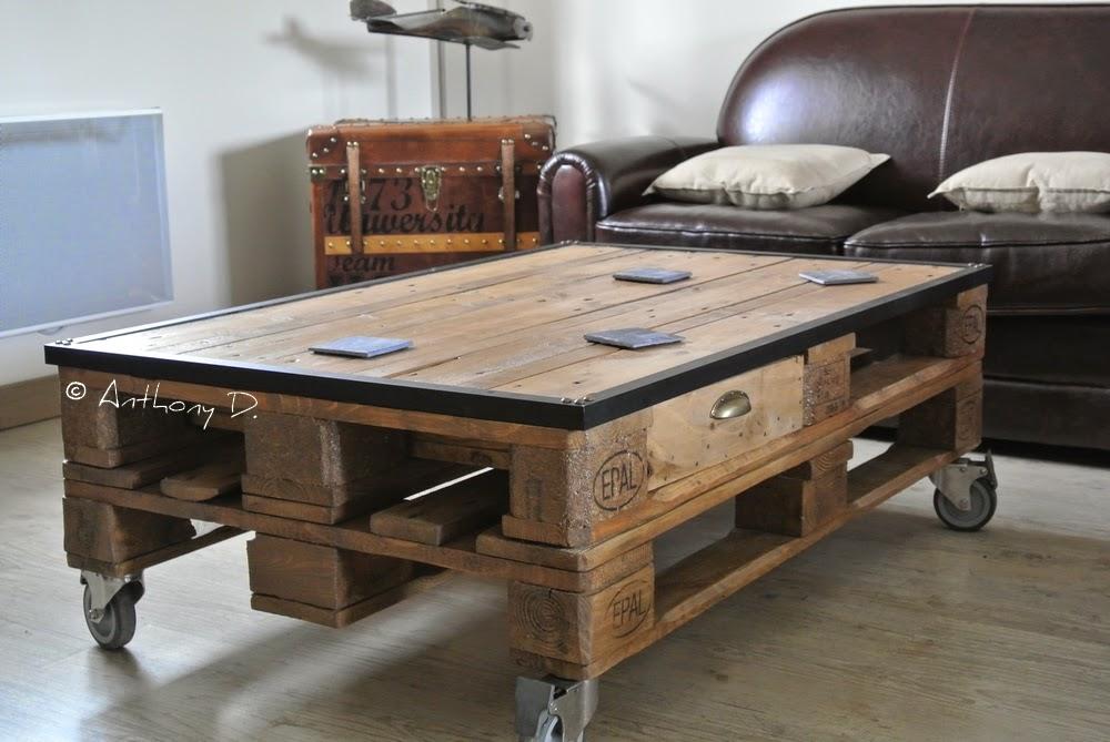 tiroir pour table basse palette. Black Bedroom Furniture Sets. Home Design Ideas