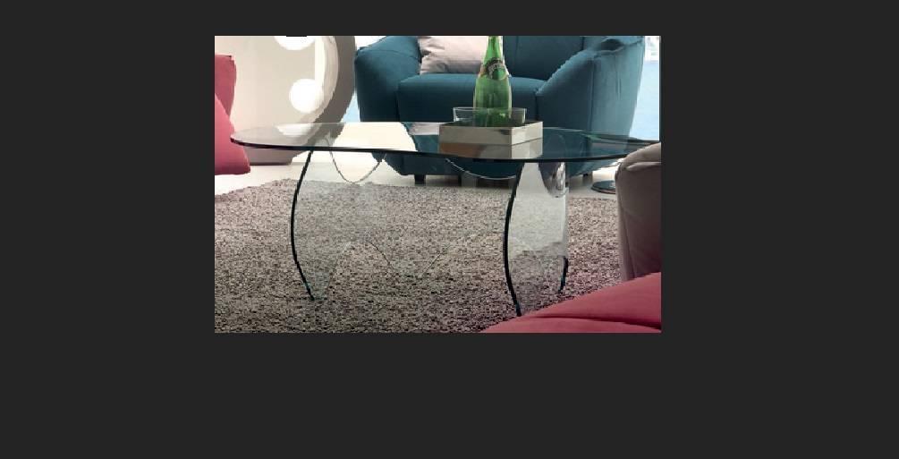 Table basse en verre chateau d'ax
