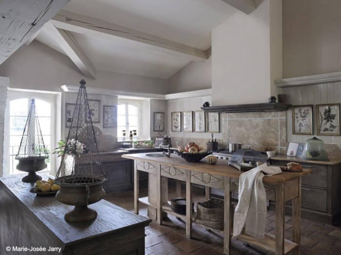 Modele de cuisine pour maison de campagne
