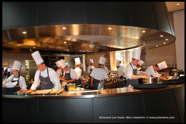 Plan cuisine ouverte restaurant