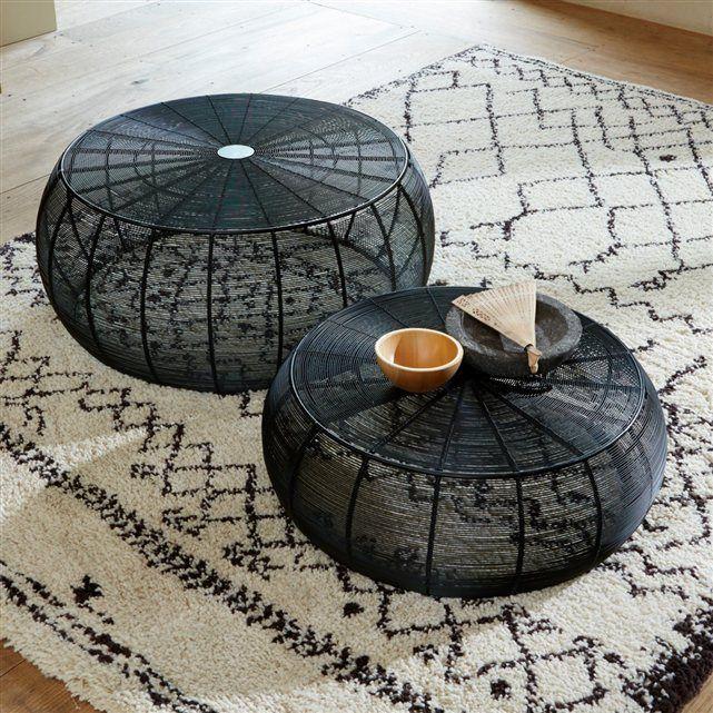 Table basse ronde acier