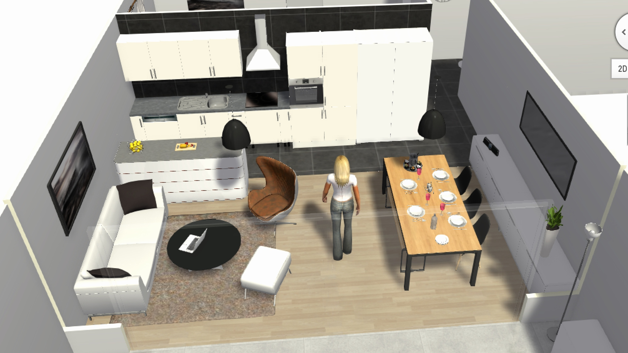 Plan salon cuisine 30m2 - Salon cuisine 30m2 ...