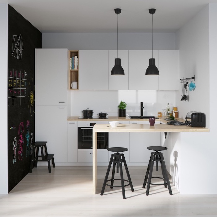 modele petite cuisine en longueur. Black Bedroom Furniture Sets. Home Design Ideas