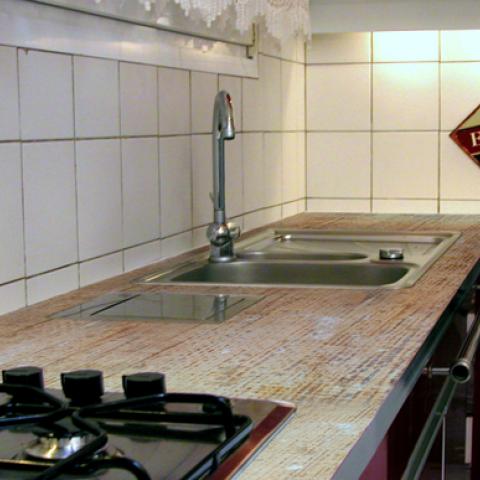 Renover un plan de travail cuisine en bois