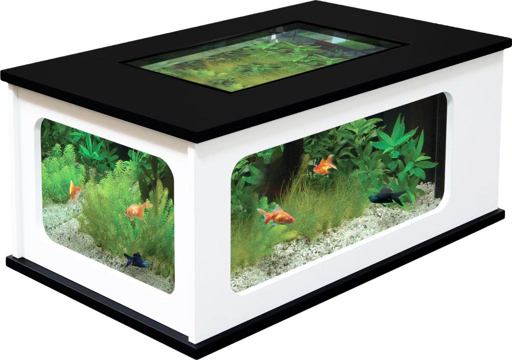 Table basse aquarium cdiscount