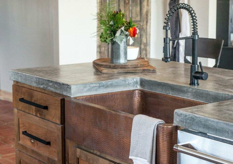 plan de travail beton cire sur bois. Black Bedroom Furniture Sets. Home Design Ideas