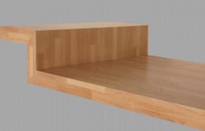 Assemblage plan de travail bois massif