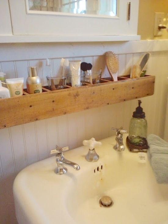 Astuce plan de travail salle de bain