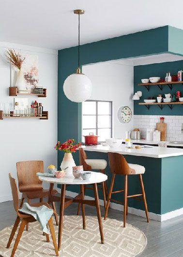Petite cuisine ouverte en longueur