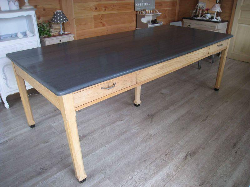 Repeindre table de cuisine en bois - Comment peindre une cuisine en bois ...