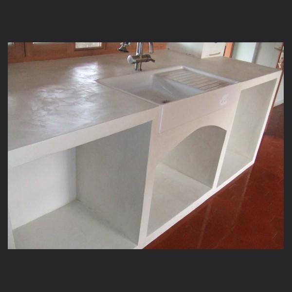 Renover plan de travail cuisine en beton cire