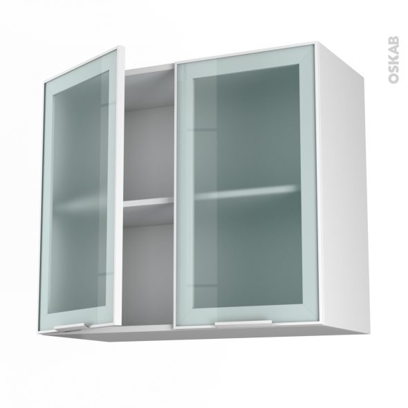 Meuble haut de cuisine aluminium