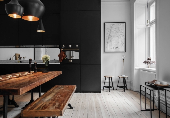 Decoration cuisine blanc noire