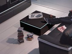 Table basse electra noir conforama