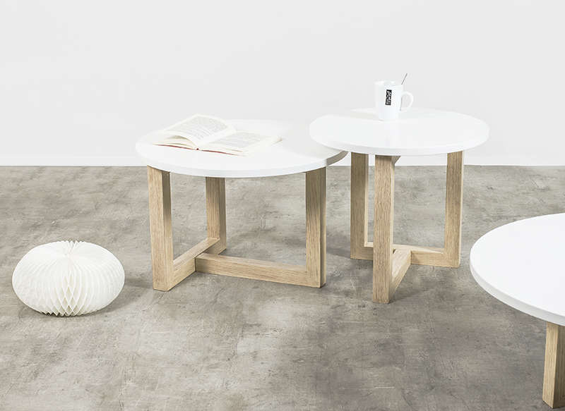 Table basse scandinave ronde