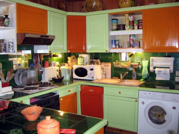 Exceptionnel Decoration Cuisine Vert Pistache Et Orange
