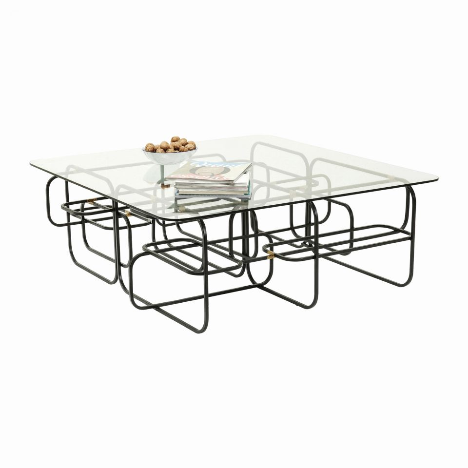 Table basse flintstone kare design