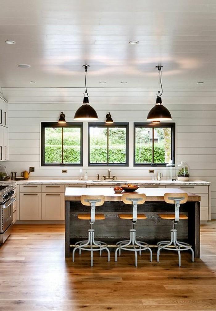 Modele cuisine equipee avec ilot central - Exemple cuisine avec ilot central ...