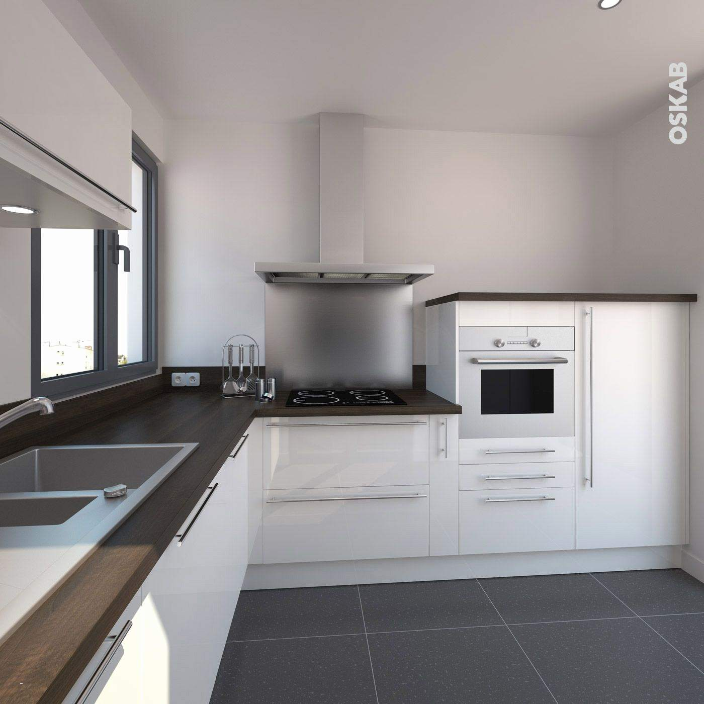 modele petite cuisine blanche. Black Bedroom Furniture Sets. Home Design Ideas
