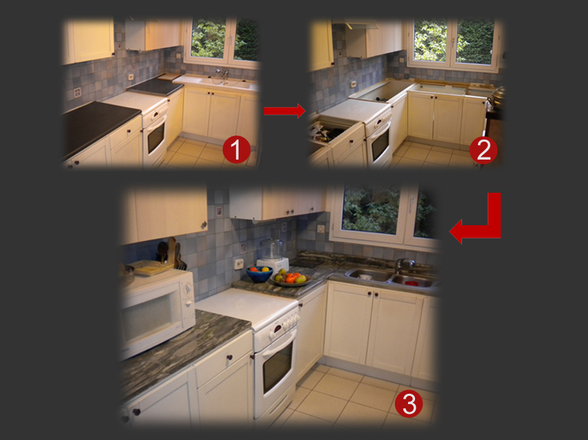 Plan de travail cuisine renovation