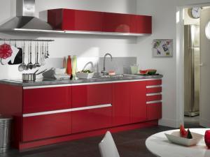 Deco cuisine en rouge et blanc