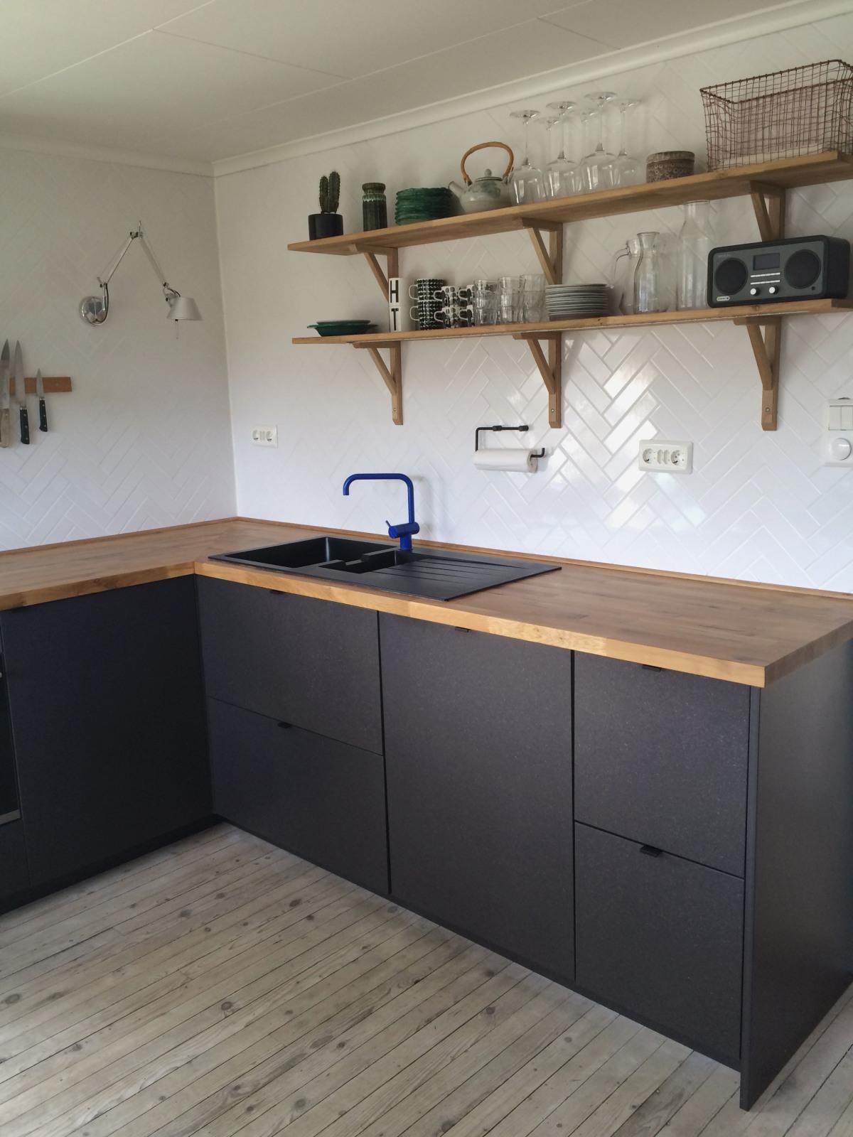 Cuisine Ikea Hyttan Plan De Travail Noir Tendancesdesign Fr