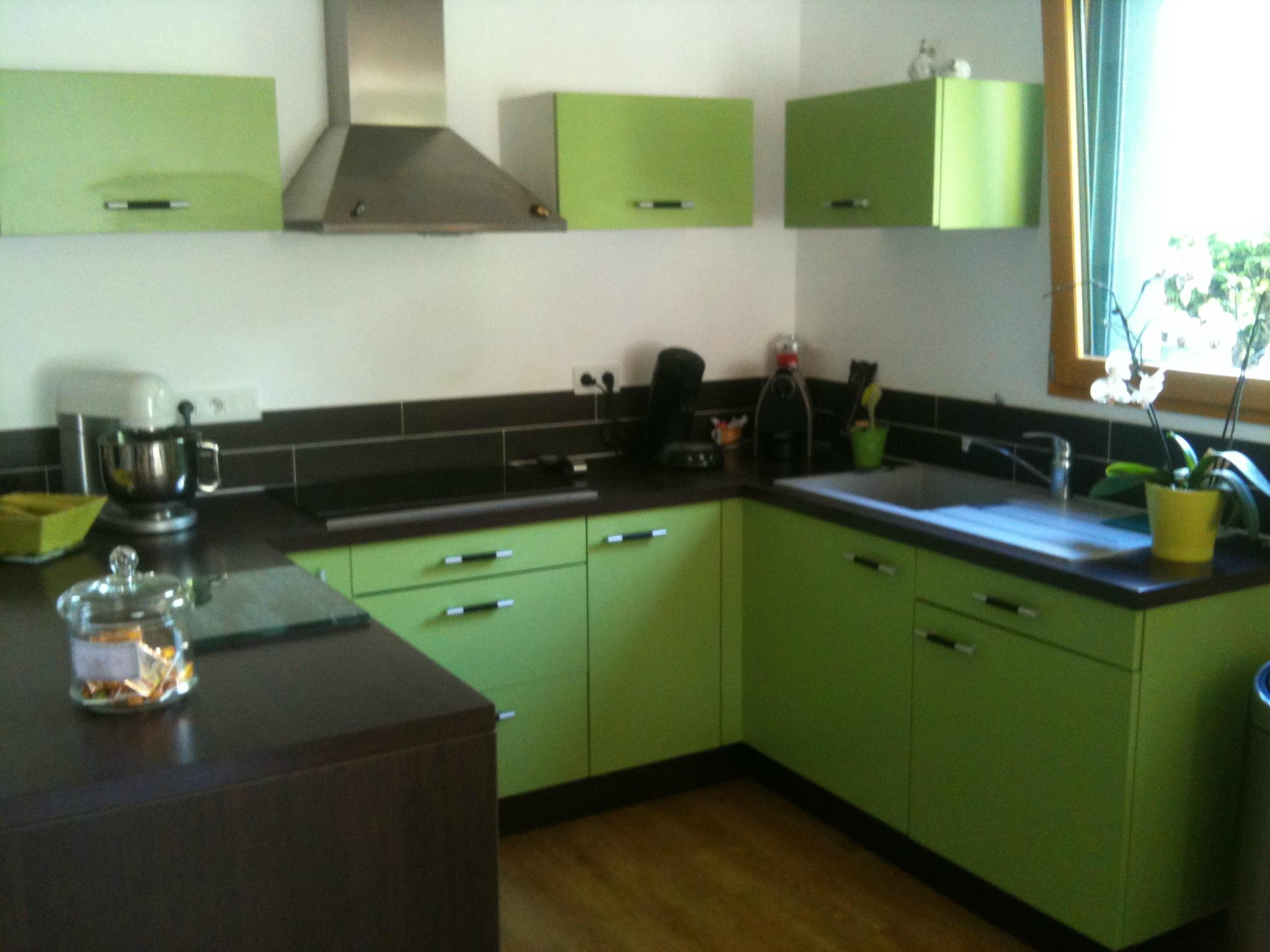 Deco cuisine blanc et verte