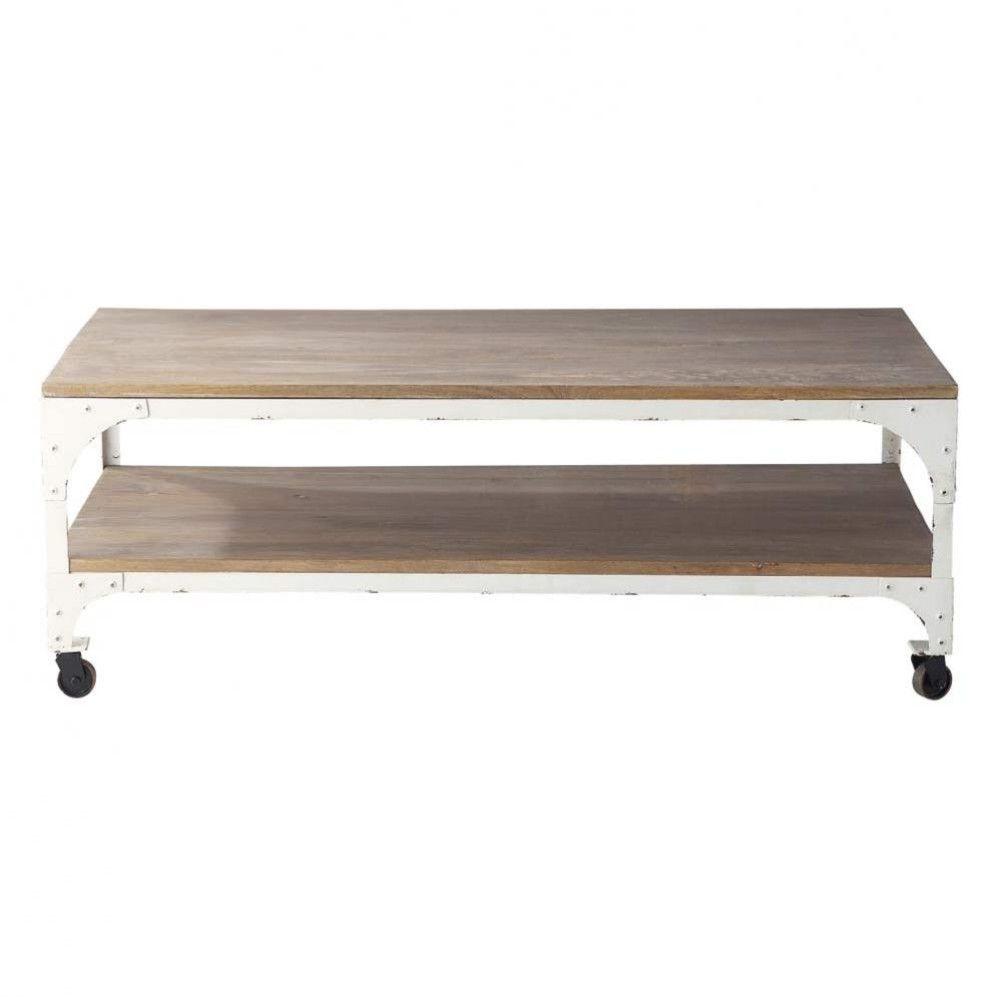 Table basse blanc laque maison du monde